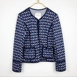 Anthropologie Hei Hei Geo Printed Knit Blazer